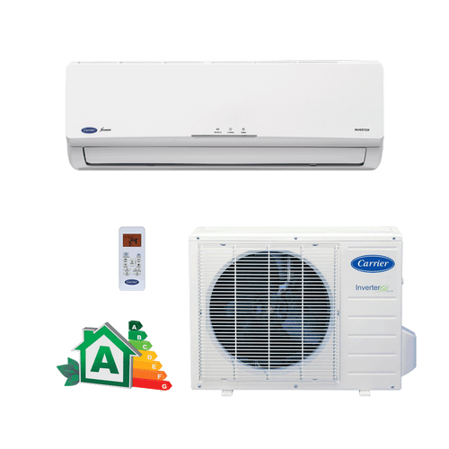 Conjunto-Ar-Condicionado-Split-Hi-Wall-Carrier-Inverter-Novo-x-power-9000-Btus-Quente-Frio