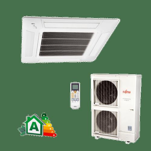 Conjunto-Ar-Condicionado-Split-Cassete-Inverter-Fujitsu-42000-Btus-Quente-Frio-380v-Trifasico