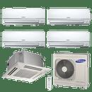 Conjunto-ar-condicionado-free-joint-multi-samsung-inverter-4x-8900-cassete-4-vias-1x-17700-btus-quente-frio-220v-rj100f5hxba-mh026fnba-mh052fmba