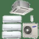 Conjunto-ar-condicionado-free-joint-multi-samsung-inverter-3x-11900-cassete-4-vias-1x-11900-btus-quente-frio-220v-rj100f5hxba-mh035fnba-mh035fmba