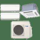 Conjunto-ar-condicionado-multi-split-daikin-advance-2x-9000---cassete-4-vias-1x-12000-quente-frio-220v-ftxs25kvm-ffq35kvl-3mxs52kvm