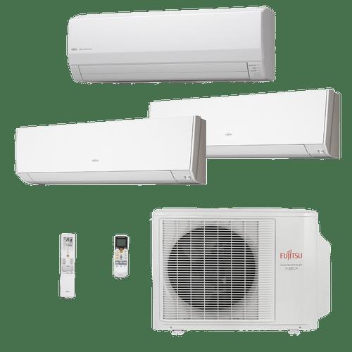 Ar Condicionado Multisplit Tri 36000 Btu(2x9000+18000) Quente/frio - Inverter - Fujitsu - 220v - Asbg09lmca Asbg18lfca / Aobg24lat3