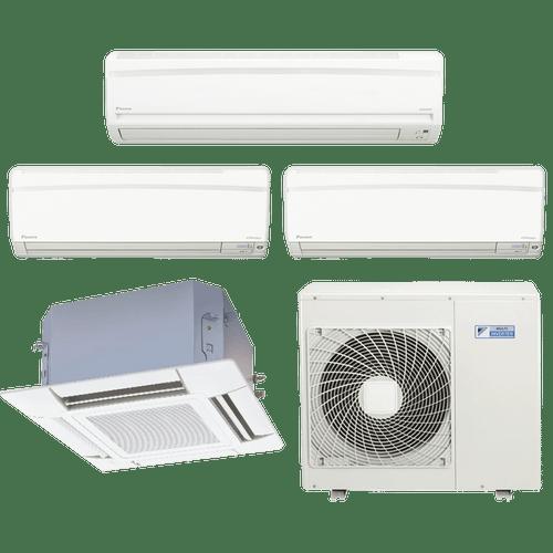 Conjunto-ar-condicionado-multi-split-daikin-advance-2x-9000---1x-18000--cassete-4-vias-1x-18000-quente-frio-220v-ftxs25kvm-ftxs50kvm-ffq50kvl-4mxs100kvm