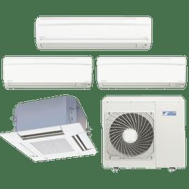 Ar Condicionado Multi Split Daikin Advance 2x 9.000 + 1x 18.000 + Cassete 4 Vias 1x 18.000 BTUs Quente / Frio 220V
