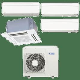 Ar Condicionado Multi Split Daikin Advance 3x 12.000 + Cassete 4 Vias 1x 18.000 BTUs Quente / Frio 220V