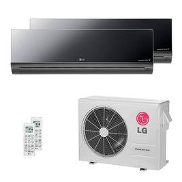 Ar Condicionado Multi Split LG 21.000 BTUs ( 1x Evap HW Artcool 12.300 + 1x Evap HW 19.100 ) Quente / Frio 220V AMNW12GDBR0 | AMNW18GDCR0 | A3UW21GFA2