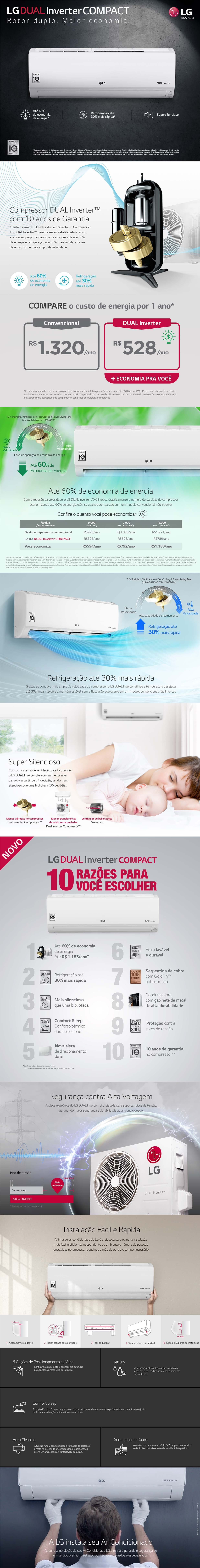 Ar-Condicionado Split LG Dual Inverter Compact