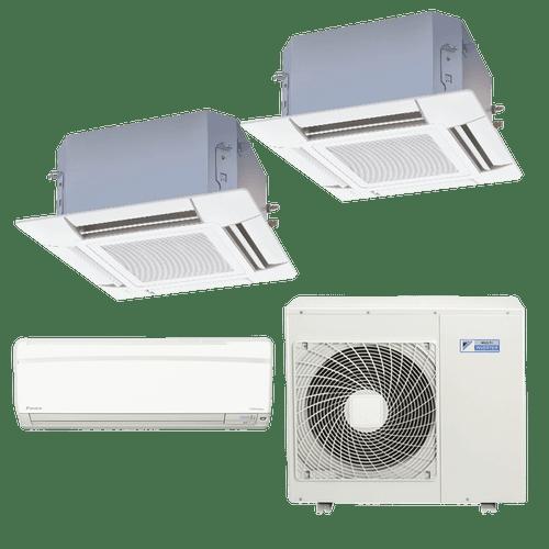 Conjunto-ar-condicionado-multi-split-daikin-advance-1x-12000---cassete-4-vias-1x-12000---1x-18000-quente-frio-220v-ftxs35kvm-ffq35kvl-ffq50kvl-4mxs80kvm