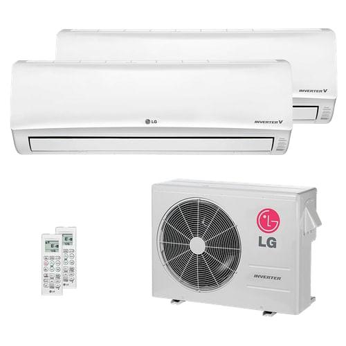 Ar Condicionado Multi Split Inverter LG 24.000 BTUs (2x Evap HW 19.100) Quente/Frio 220V