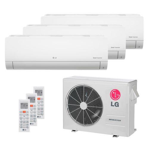 Ar Condicionado Multi Split Inverter LG 24.000 BTUs (2x Evap HW 8.500 + 1x Evap HW 17.100) Quente/Frio 220V