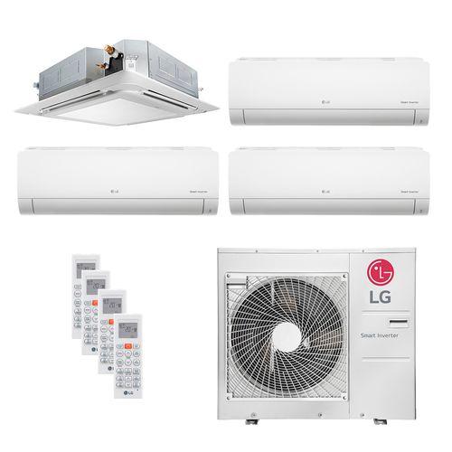 Ar Condicionado Multi Split Inverter LG 36.000 BTUs (3x Evap HW 8.500 + 1x Evap Cassete 4 Vias 17.100) Quente/Frio 220V