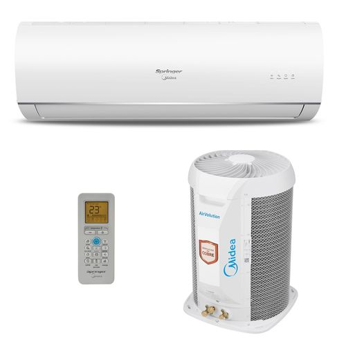 Ar-Condicionado Split HW Springer Midea Air Volution 12.000 BTUs Quente/Frio 220V