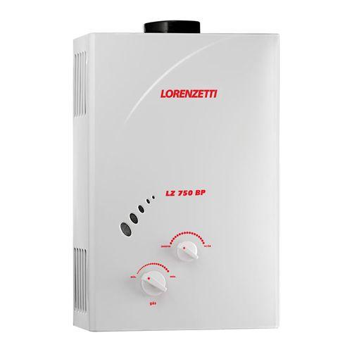 Aquecedor de Água à Gás LZ 750BP GN  + Ducha Loren One