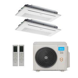 Ar-Condicionado Multi Split Inverter Springer Midea 18.000 BTUs (2x Evap K7 1 Via 9.000 ) Quente/Frio 220V