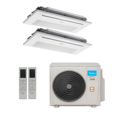 Ar-Condicionado Multi Split Inverter Springer Midea 18.000 BTUs (2x Evap K7 1 Via 12.000 ) Quente/Frio 220V
