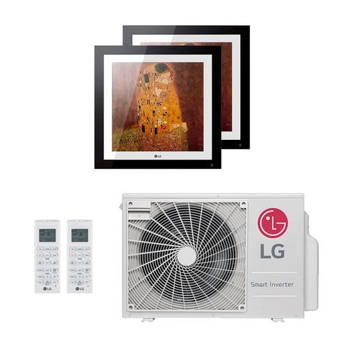 Ar-Condicionado Multi Split Inverter LG Artcool Gallery 18.000 BTUs (2x Evap Artcool Gallery 9.000) Quente/Frio 220V