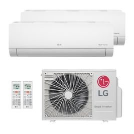Ar-Condicionado Multi Split Inverter LG 18.000 BTUs (2x Evap HW 7.200) Quente/Frio 220V
