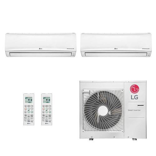 Ar Condicionado Multi Split Inverter LG 36.000 BTUs (1x Evap HW 19.100 + 1x Evap HW 24.200) Quente/Frio 220V