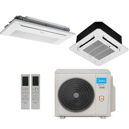 Ar-Condicionado Multi Split Inverter Springer Midea 18.000 BTUs (1x Evap K7 1 Via 9.000 + 1x Evap K7 4 Vias 18.000) Quente/Frio 220V