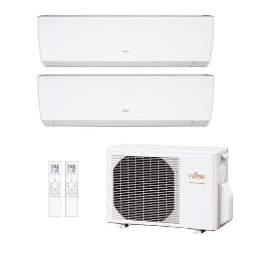 Ar-Condicionado Multi Split Inverter Fujitsu 18.000 BTUs (1x Evap HW Via 7.000 + 1x Evap HW 9.000) Quente/Frio 220V