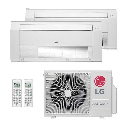 Ar-Condicionado Multi Split Inverter LG 18.000 BTUs (2x Evap K7 1 Via 12.000) Quente/Frio 220V