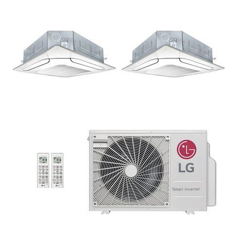 Ar-Condicionado Multi Split Inverter LG 18.000 BTUs (2x Evap K7 4 Vias 9.000) Quente/Frio 220V
