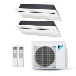 Ar-Condicionado Multi Split Inverter Daikin 18.000 BTUs (2x Evap Cassete 1 Via 9.000) Quente/Frio 220V