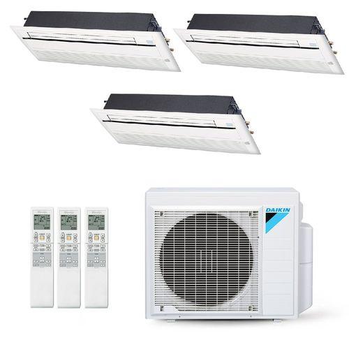 Ar-Condicionado Multi Split Inverter Daikin 28.000 BTUs (3x Evap Cassete 1 Via 12.000) Quente/Frio 220V