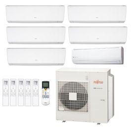 Ar-Condicionado Multi Split Inverter Fujitsu 45.000 BTUs (2x Evap HW 7.000 + 2x Evap 9.000 + 1x Evap 12.000 + 1x Evap 18.000) Quente/Frio 220V