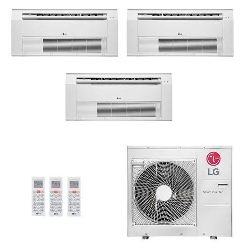 Ar-Condicionado Multi Split Inverter LG 30.000 BTUs (2x Evap K7 1 Via 9.000 + 1x Evap K7 1 Via 12.000) Quente/Frio 220V