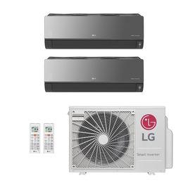 Ar-Condicionado Multi Split Inverter LG 18.000 BTUs (2x Evap HW Artcool 7.000) Quente/Frio 220V