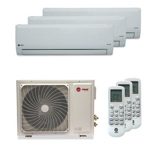 Ar-Condicionado Multi Split Inverter Trane 30.000 BTUs (2x Evap HW 12.000 + 1x Evap HW 18.000) Quente/Frio 220V