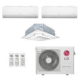 Ar-Condicionado Multi Split Inverter LG 30.000 BTUs (2x Evap HW 9.000 + 1x Evap K7 4 Vias 24.000) Quente/Frio 220V