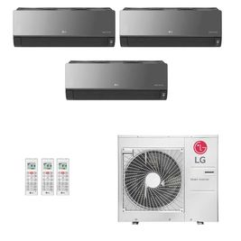 Ar-Condicionado Multi Split Inverter LG 36.000 BTUs (1x Evap HW Artcool 7.000 + 1x Evap HW Artcool 9.000 + 1x Evap HW Artcool 24.000) Quente/Frio 220V