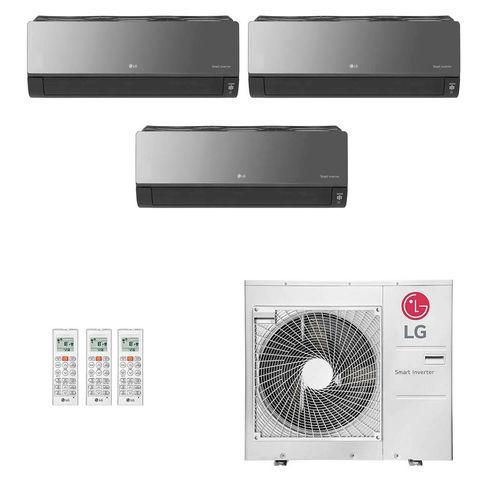Ar-Condicionado Multi Split Inverter LG 36.000 BTUs (2x Evap HW Artcool 9.000 + 1x Evap HW Artcool 24.000) Quente/Frio 220V
