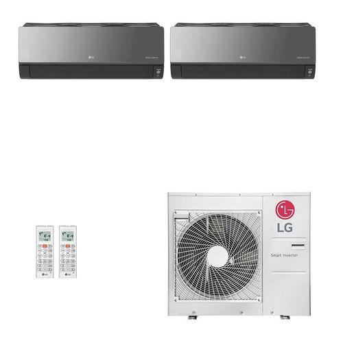 Ar-Condicionado Multi Split Inverter LG 36.000 BTUs (1x Evap HW Artcool 18.000 + 1x Evap HW Artcool 24.000) Quente/Frio 220V