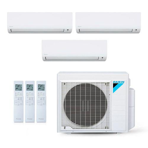 Ar-Condicionado Multi Split Inverter Daikin 28.000 BTUs (2x Evap HW 9.000 + 1x Evap HW 20.000 ) Quente/Frio 220V