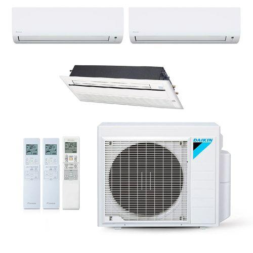 Ar-Condicionado Multi Split Inverter Daikin 28.000 BTUs (2x Evap HW 9.000 + 1x Evap K7 1 Via 18.000 ) Quente/Frio 220V