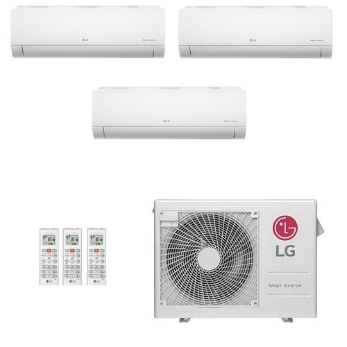 Ar-Condicionado Multi Split Inverter LG 24.000 BTUs (3x Evap HW 7.000) Quente/Frio 220V