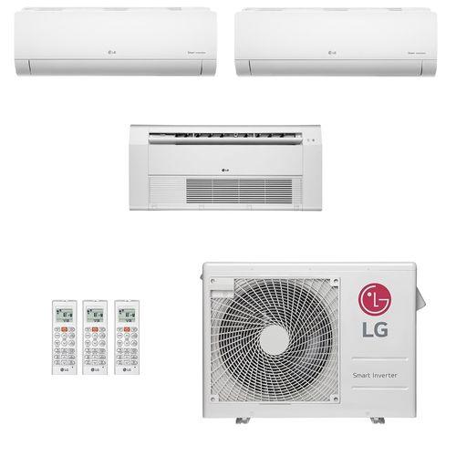 Ar-Condicionado Multi Split Inverter LG 24.000 BTUs (2x Evap HW 9.000 + 1x Evap K7 1 Via 12.000) Quente/Frio 220V