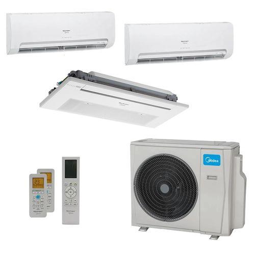 Ar-Condicionado Multi Split Inverter Springer Midea 27.000 BTUs (2x Evap HW 9.000 + 1x Evap K7 1 Via 12.000) Quente/Frio 220V
