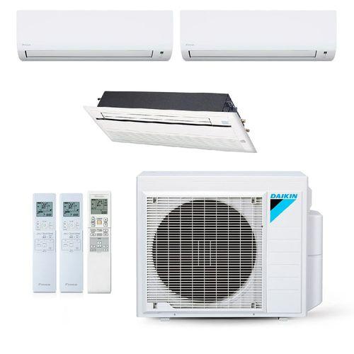 Multi-Split-Daikin-inverter-3-ambientes-hi-wall-e-Cassete