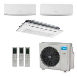 Ar-Condicionado Multi Split Inverter Springer Midea (2x Evap HW 9.000 + 1x Evap K7 9.000) Quente/Frio 220V