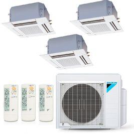 Ar-Condicionado Multi Split Inverter Daikin 23.000 BTUs (2x Evap K7 4 Vias 9.000 + 1x Evap K7 4 Vias 12.000) Quente/Frio 220V