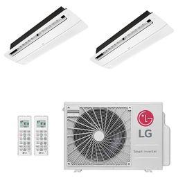 Ar-Condicionado Multi Split Inverter LG 18.000 BTUs (1x Evap K7 1 Via 9.000 + 1x Evap K7 1 Via 12.000) Quente/Frio 220V