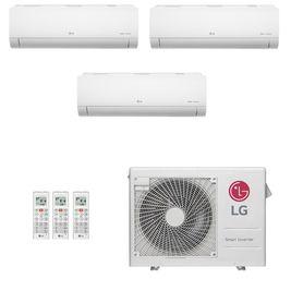 Ar-Condicionado Multi Split Inverter LG 24.000 BTUs (2x Evap HW 7.000 + 1x Evap HW 9.000) Quente/Frio 220V