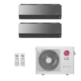 Ar-Condicionado Multi Split Inverter LG 24.000 BTUs (1x Evap HW Artcool 9.000 + 1x Evap HW Artcool 18.000) Quente/Frio 220V