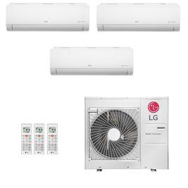 Ar-Condicionado Multi Split Inverter LG 36.000 BTUs (1x Evap HW 9.000 + 1x Evap HW 12.000 + 1x Evap HW 18.000) Quente/Frio 220V