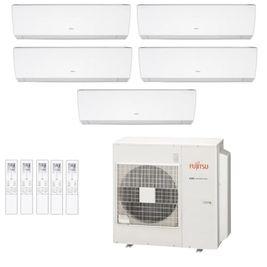 Ar-Condicionado Multi Split Inverter Fujitsu 45.000 BTUs (3x Evap HW 9.000 + 2x Evap HW 12.000) Quente/Frio 220V