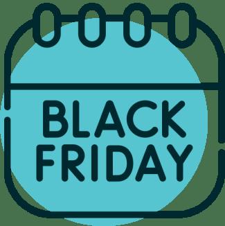 Icone calendario black friday